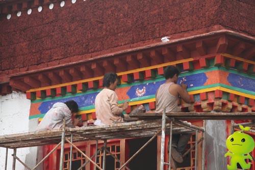 博物馆墙体彩绘