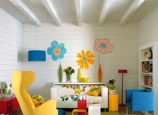 给儿童房做手绘墙