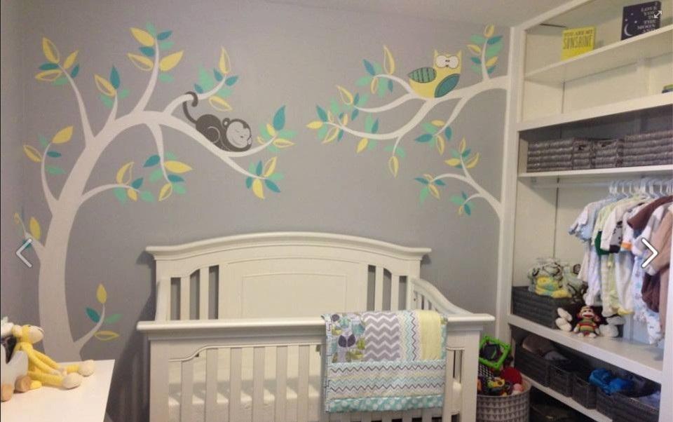 现在流行的手绘墙,让家逼格满满