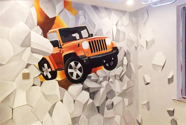 客厅使用墙体彩绘有什么优势和特点