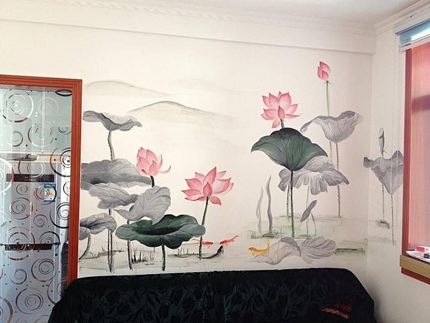 现代家居装修中手绘墙的模式设计