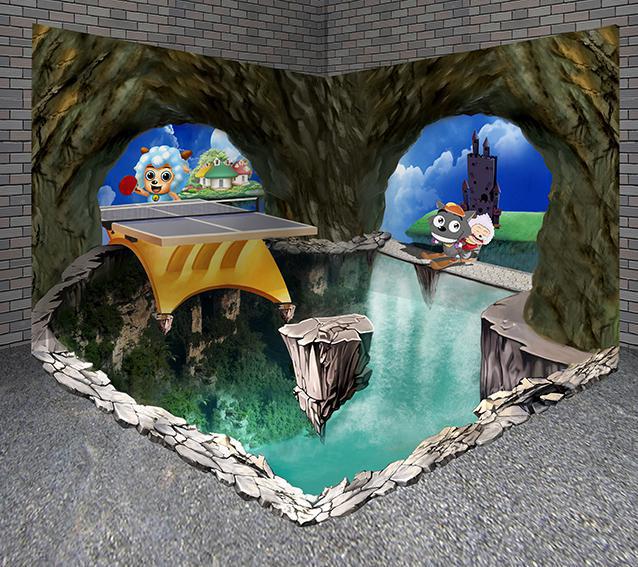3D手绘墙绘画在生活中的应用主要体现