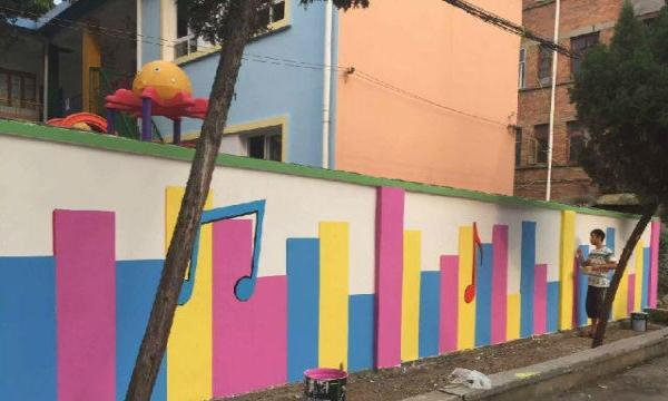 给大家分享几个墙体彩绘设计图案
