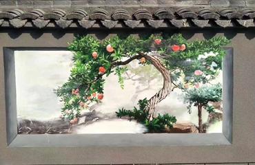 墙体彩绘具有特有的场景适应能力