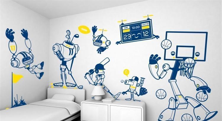 墙面的基层处理对于手绘墙比较重要!