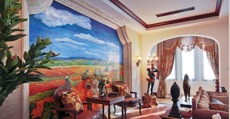 家庭装饰手绘墙绘颜色搭配禁忌