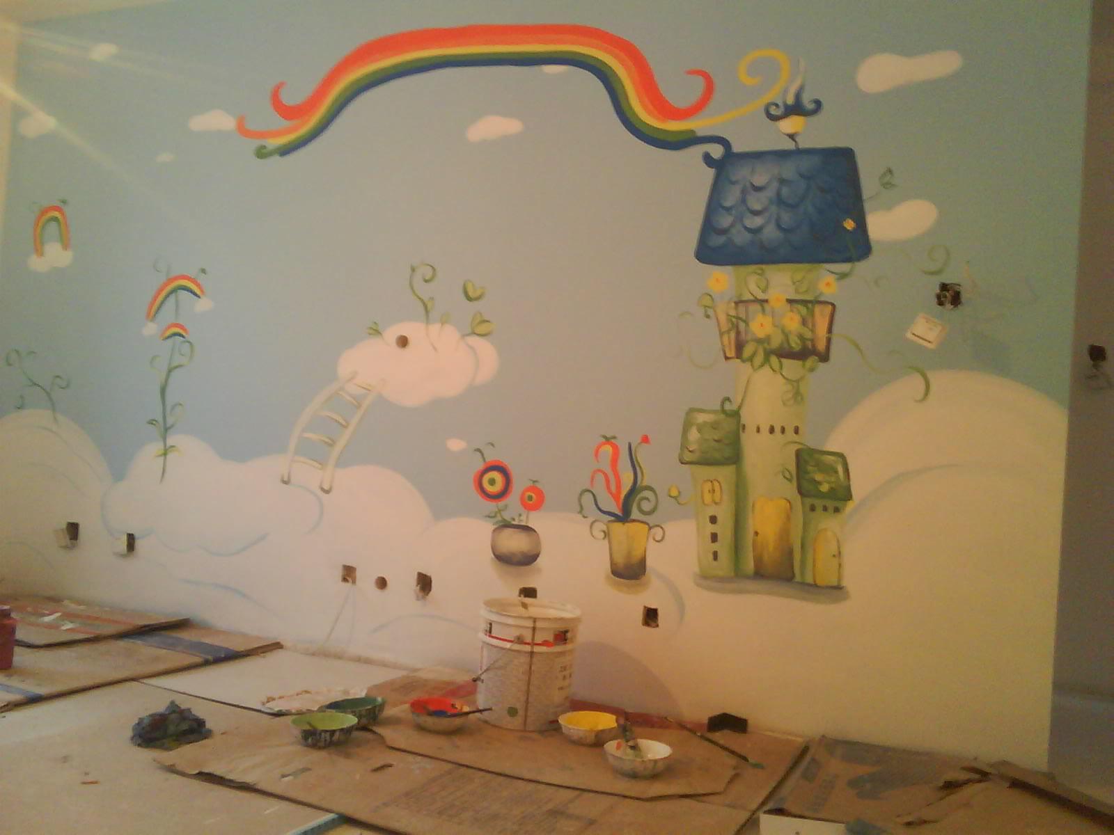 墙绘在绘制的时候需要符合室内设计和安排