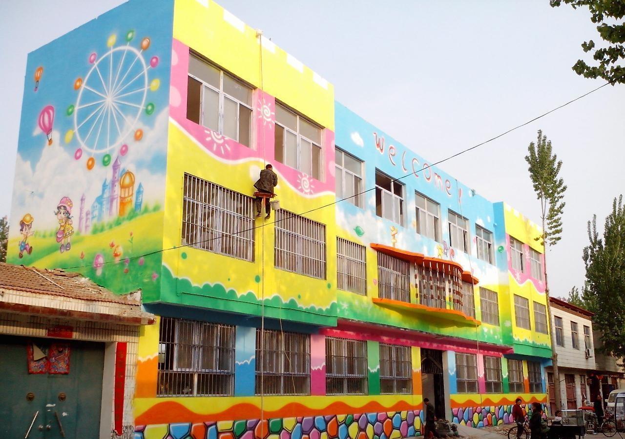 幼儿园墙体彩绘必然有它的独特和优势