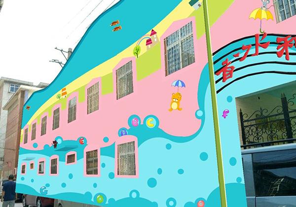 幼儿园墙体彩绘设计的时候应该丰富多彩一些