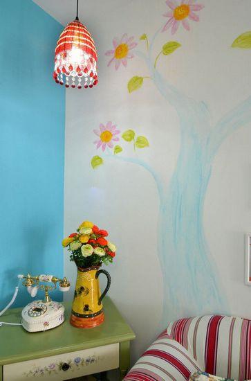 能够与居室融合的手绘墙