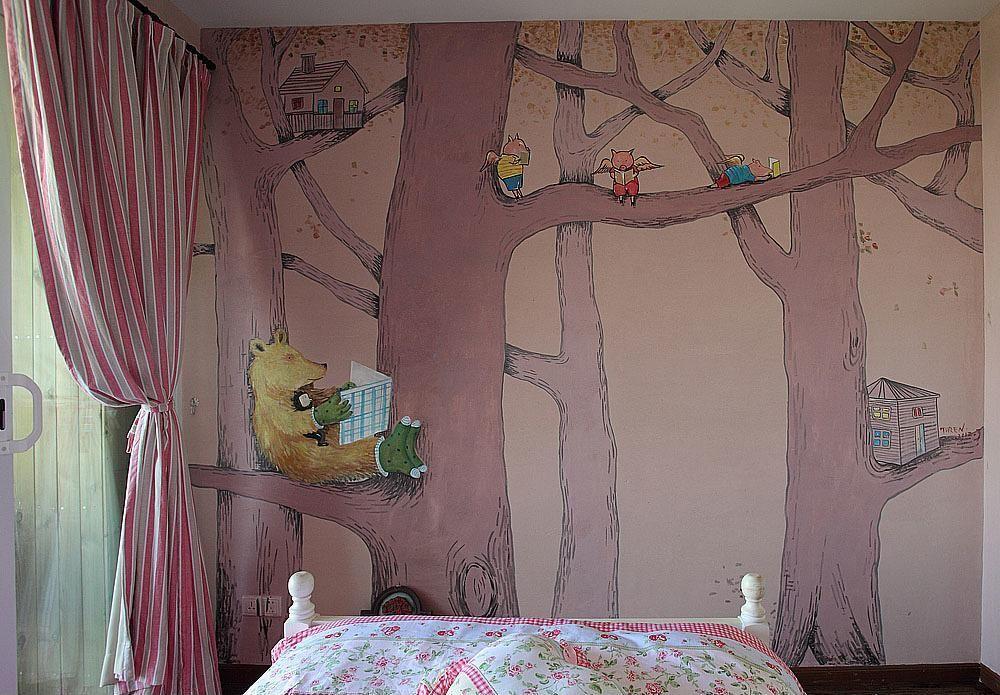 家庭墙绘是近年来居家装饰的潮流